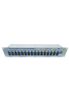 Patch Panel GigaBit PoE 16 portas